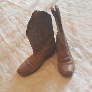 Nocona Boots Size 6 B Distressed Square Toe